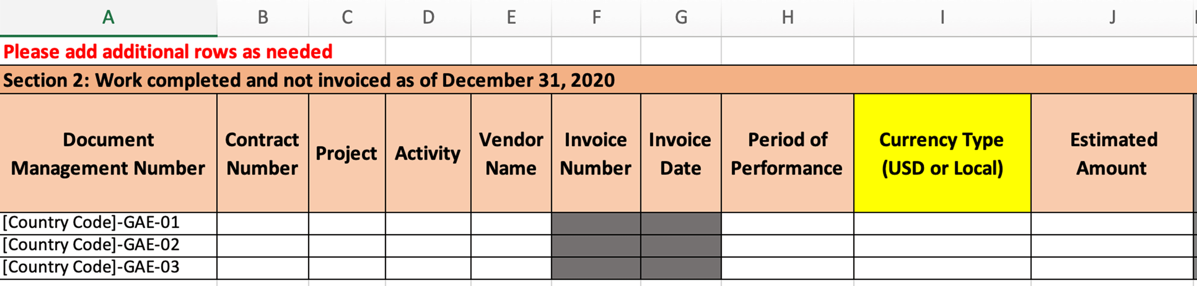 Invoice Number and Invoice Date columns